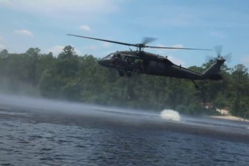 Jump from a Blackhawk Helicopter