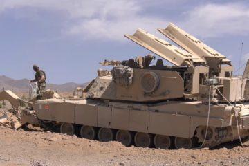 US M1150 Assault Breacher Vehicle clears Pathway through Minefield