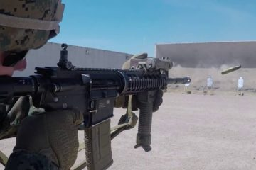 US Marines train with Iron Sights on the Rifle Range