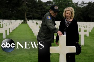 World War II Veterans pay respects at US Cemetery in Normandy