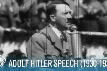 Adolf Hitler Speaking To Mass Crowds