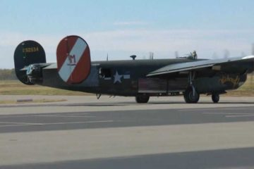 B-24 Liberator Warmup & TakeOff