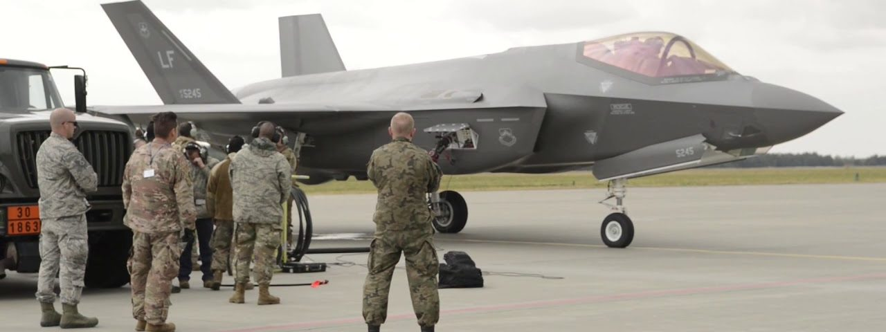 F-35A's Land in Poland for the first Time