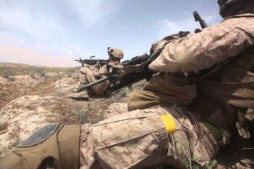 U.S Marines Patrol in Afghanistan - Combat Footage