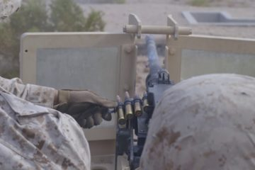 U.S. Marines Firing 50 Caliber & M240B Machine Guns