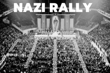 NAZI RALLY in Madison Square garden New York 20th February 1939