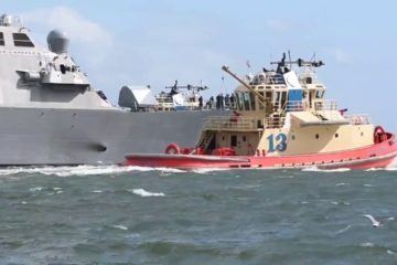 US Naval Ships Prepare for Hurricane Dorian Aug - 30 2019