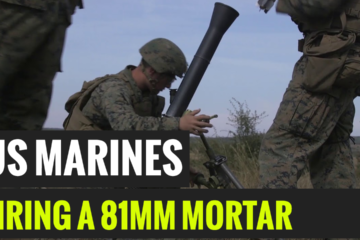 US Marines fire a 81MM-Mortar