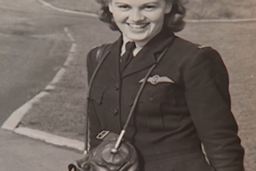 92-year-old Air Transport Auxiliary veteran Joy Lofthouse returns to the skies in a Spitfire 70 years on from the end of World War 2