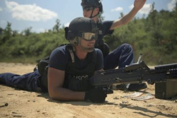US Coast Guard - MSST New Orleans - Conducts Weapons Training