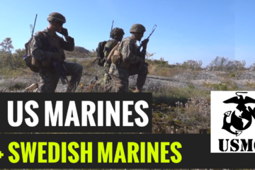 U.S. Marines with 1st Battalion, 8th Marines, Marine Rotational Force–Europe 19.2, Marine Forces Europe and Africa, and Swedish Marines from 1st Marine Regiment,