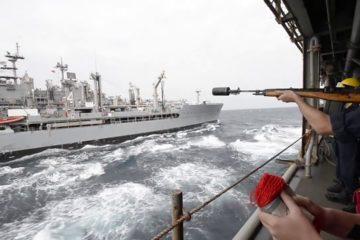 Watch : US Navy - USS Boxer Amphibious Ready Group Replenishment at Sea