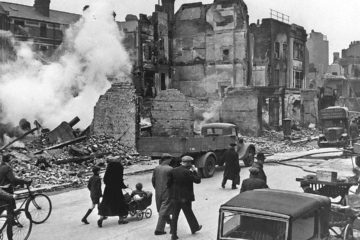 Blitz Street is on the receiving end of one of the largest bombs the Luftwaffe ever dropped on Britain: the SC1000, nicknamed 'The Hermann'.