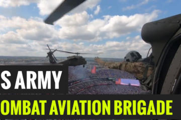 US 29th Combat Aviation Brigade Ravens Flyover